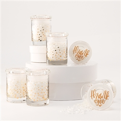 Gold Foil Confetti Mini Glass Favour Jar With Lid