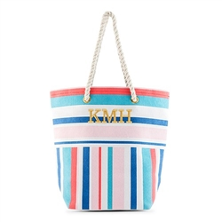 Bright Stripes Canvas Tote