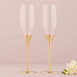 Venice Gold Toasting Flutes