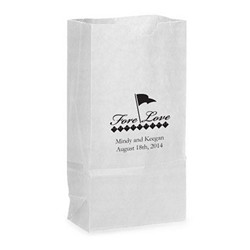 Self-Standing Paper Goodie Bag with Side Gussets and Flat Bottom (Set of 25)