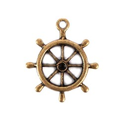 Boat Wheel Charm (package of 12)