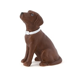 Labrador Dog Figurine (Chocolate Brown)