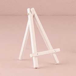 White Wooden Easels - Medium (set of 4)