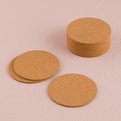 Round Cork Coasters (pkg of 25)