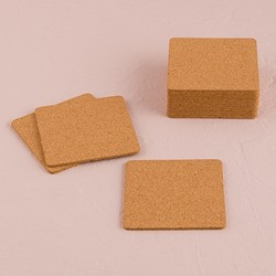 Square Cork Coasters (pkg of 25)