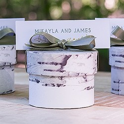 Birch Circular Favor Box (Package of 6)