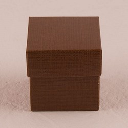 Chocolate Brown Square Favor Box With Lid (Package of 10)