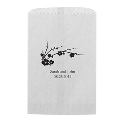 Cherry Blossom Printed Flat Paper Goodie Bag (set of 25)