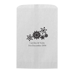 Winter Finery Snowflake Printed Flat Paper Goodie Bag (set of 25)