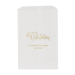 Baptism Printed Flat Paper Goodie Bag (set of 25)