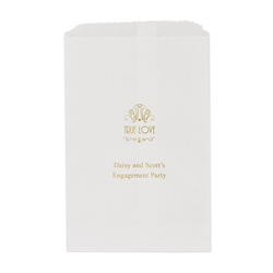 True Love Printed Flat Paper Goodie Bag (set of 25)