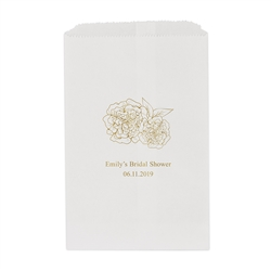 Shabby Chic Floral Printed Flat Paper Goodie Bag (set of 25)