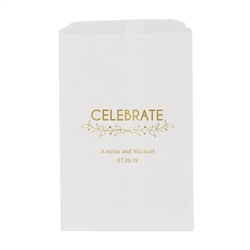 Woodland Pretty Celebrate Printed Flat Paper Goodie Bag (set of 25)