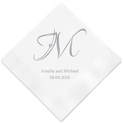 Decorative Initial Personalized Napkins (Set of 100)