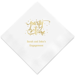"""party Time"" Printed Napkins (Set of 100)"