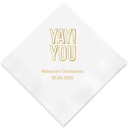 """Yay! You"" Printed Napkins (Set of 100)"