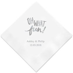 """Oh What Fun!"" Printed Napkins(set of 100)"
