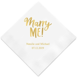 Marry Me! Printed Napkins