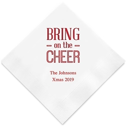 Bring On The Cheer Printed Paper Napkins