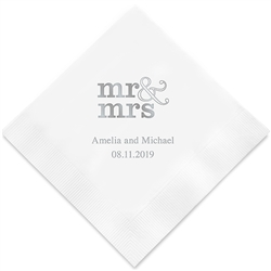 Mr & Mrs - standard Printed Napkins (Set of 100)
