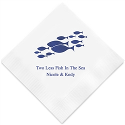 Of All The Fish In The Sea Printed Napkins (Set of 100)