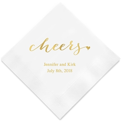 """cheers"" Printed Napkins (Set of 100)"