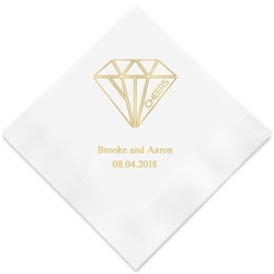 Cheers Geometric Diamond Printed Napkins (Set of 100)