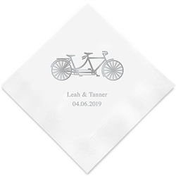 Tandem Bike Printed Napkins(set of 100)