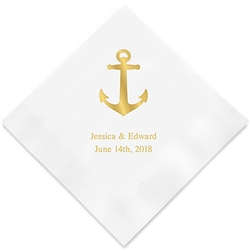 Anchor Printed Napkins(set of 100)