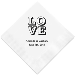 Love Stack Printed Napkins(set of 100)
