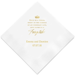Love Gives Us A Fairy Tale Printed Napkins (Set of 100)