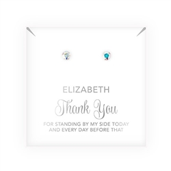 Crystal Or Pearl Stud Earrings - Thank You Script Design