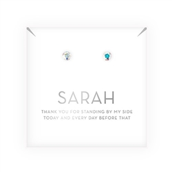 Crystal Or Pearl Stud Earrings - Thank You Design