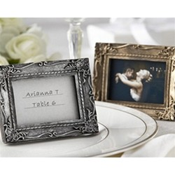 """Work of Art"" Antique-Finish Place Card Holder/Photo Frame"
