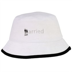 Just married Brushed Cotton Twill Crusher Hat