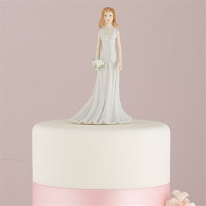 Fashionable Bride in Designer Gown Mix & Match Cake Toppers