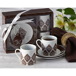 """Moroccan Flair"" Espresso Coffee Cup Set"