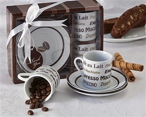 """Euro Café"" Espresso Coffee Cup Set"