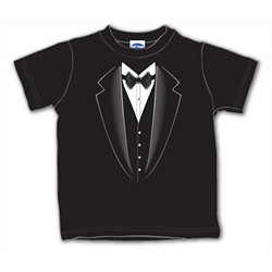 Black Tuxedo Toddler T-Shirt - Available Sz. 2,3,4