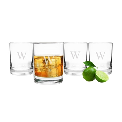 Etched Drinking Glasses