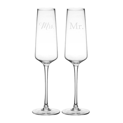 Wedding Champagne Estate Glasses, Set of 2