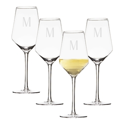Personalized 14 oz. White Wine Estate Glasses Set of 4