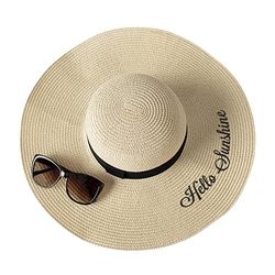 Hello Sunshine Natural Straw Hat