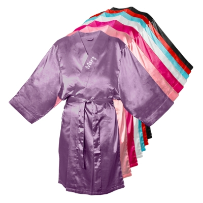 Personalized Satin Robes Multiple Colors Available