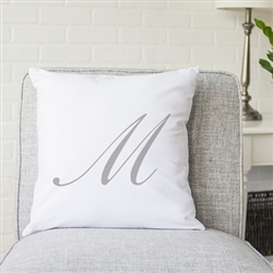 "Personalized Script Initial 16"" Pillow"