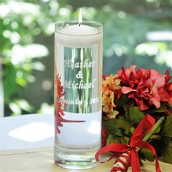 Personalized Floating Unity Candle/Vase