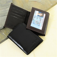 Personalized Oxford Tri-fold Genuine Leather Wallet
