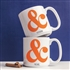 Personalized Ampersand Large Coffee Mugs (Set of 2)