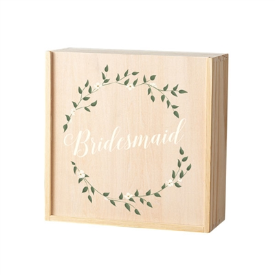 Bridesmaid/Maid of Honor Floral Wreath Attendant Box (3 Designs)