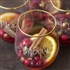 Be Merry 19.25 oz. Gold Rim Stemless Wine Glasses (Set of 4)